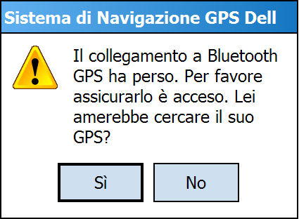 Errore GPS